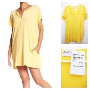 🆕Allen Allen split neck spring dress with pockets